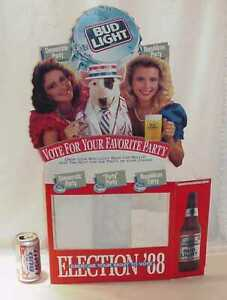 SPUDS MACKENZIE RARE POINT OF PURCHASE 1988 ELECTION TALL BOY DISPLAY SIGN
