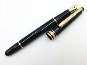 Y5963  MONTBLANC MEISTERSTUCK 144 Fountain Pen* Black 14K Gold 585