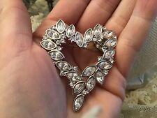 Vtg Monet Heart Pin brooch  Rhinestone Valentine Present