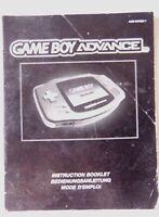 61328 Instruction Booklet - Game Boy Advance Console - Nintendo Game Boy Advance