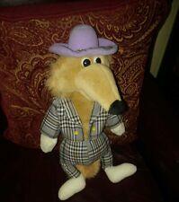 "Sugarloaf 1995 Fox plush 17"" plaid suit 20 yrs. old Rare Mint claw master winner"
