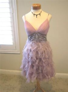 NWT Xscape prom evening cocktail social petal short ball gown dress Orchid 10