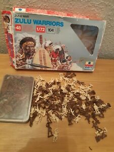 Esci 1/72 toy soldiers Zulus And British