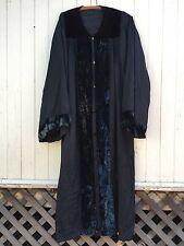 ANTIQUE WITCH CLOAK black velvet masonic occult robe odd fellows wizard kimono