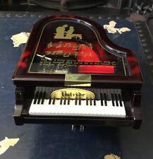 Vintage Plastic Piano Jewellery Trinket Box Wind Up Musical