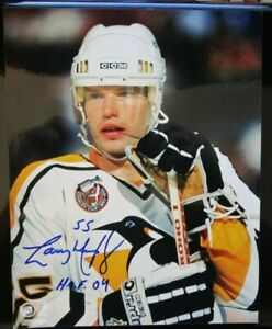 LARRY MURPHY SIGNED INSCRIBED PITTSBURGH PENGUINS 8x10 PHOTO w/ COA