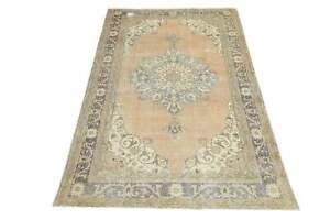 6.6x10.6, RARE Vintage Oriental Area Rug, Turkish Oushak Rug, Handwoven Rug,