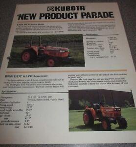 KUBOTA New Product Parade Brochure Nice Photos PX 2100 L4150 B9200 B4200 F2000