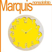 """Reloj de pared Art. 046 """"Ombre"""" amarillo azufre 1016 Pirondini Marquis"""
