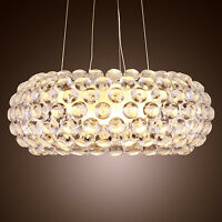 Modern Caboche Acrylic Balls Pendant Lamp Chandelier Ceiling Lighting Feature UK