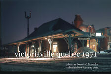 Canadian National Rwy station Victoriaville Quebec  Danville Subdivision 1971