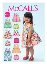 McCall's Sewing Pattern 6944 Girls Toddlers ½-4 Criss-Cross Dresses Top Romper