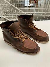 "Redwing boots 6"" moc toe US10"