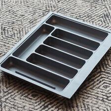 Grey Textured Cutlery Tray for 600mm Drawer | Blum Metabox | Kitchen Storage