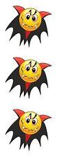 3x Vampir Emoticon Aufkleber Motorrad Helm Stoßstange Laptop Skateboard