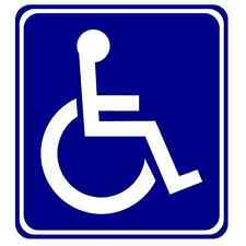 Sticker Autocollant  ACCES HANDICAPE HANDICAP
