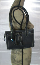 Dooney & Bourke East West Mini Tassel Tote Black Purse Handbag - EUC