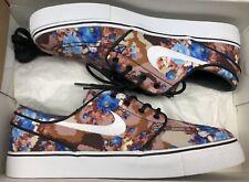 4a6a10dee6 Nike Zoom Stefan Janoski PR Digi Camo Brown Blue White Floral 482972-904 Sz  8.5