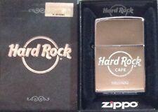 Hard Rock Cafe HELSINKI New Silver Chrome Finish ZIPPO Lighter New Box w/Sticker