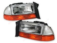 Pair OE Replacement Headlights + Park Signal Lights for 1998-2003 Dakota Durango