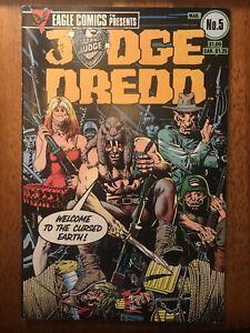 Lot Of 10 Judge Dredd Eagle Comics 1984-1985 Brian Bolland