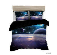 Mysteriou Universe 3D Quilt Duvet Doona Cover Set Single Double Queen King Print