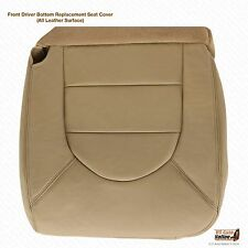 2000 Ford F250 F350 Lariat Crew Quad Cab -Driver Bottom Leather Seat Cover Tan