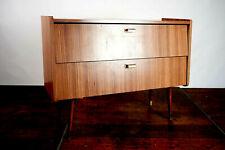 60er Vintage Sideboard Schuhregal Nussbaum Retro Schuhschrank Mid-Century 50er