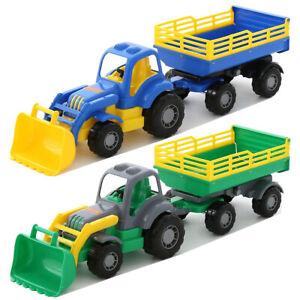WADER Country Traktor mit Schaufel und Anhänger Trecker Landwirtschaftsfahrzeug