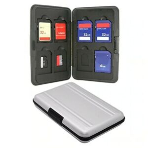 Aluminum Memory Card Carrying Case for Micro SD SDHC SDXC TF Holder Box 16 Slots