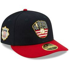 """MILWAUKEE BREWERS New Era 59FIFTY STAR & STRIPES Baseball Hat Fitted 7 1/2"""""""