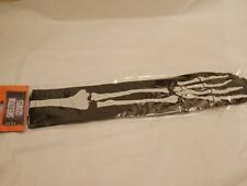 Skeleton Gloves Over Elbow Black Long Haloween Fancy Dress