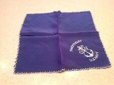 Antique Silk World War Handkerchief U.S. Navy Sweetheart Blue Anchor Excellent