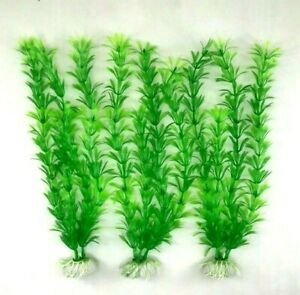 "(5 Pack) 12"" Artificial Aquarium Plant Plastic Decoration - Fast Shipping!"