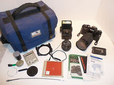 Ricoh KR-5 Super 35mm SLR Film Camera Vivitar Zoom 28-200mm Pentax 1:2 50mm Lens