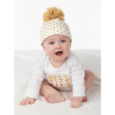 Mud Pie MH6 Season To Sparkle Christmas Baby Girl White Gold Dot Cap 1502227