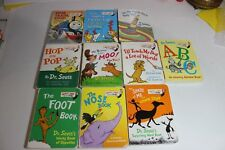 Dr. Suess lot of  10 HC Mini Board Books Pop Up shape me Teach My Dog Stop Train