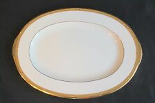"NORITAKE CHATELAINE GOLD 16"" LARGE PLATTER NEW WITH TAGS #802/5954"