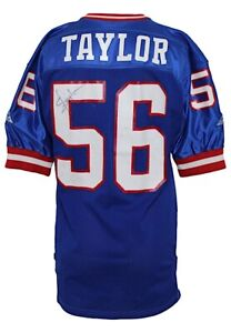 1992 Lawrence Taylor New York Giants Game Worn Signed Home Jersey GF + JSA LOA
