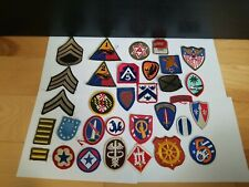 Large US Military Surplus Lot - 32 Vintage WW2/WWII Patches Various Divisions