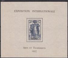 Dahomey - Block 1 aus 1937 ungebraucht mit Falz - Weltausstellung