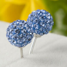 1pair 6mm Blingbling Premium Crystal Bling Ear Stud Earring Disco Ball Ear Studs