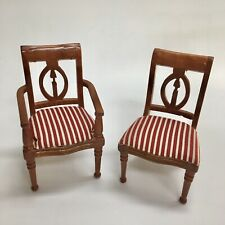 Reutter Porcelain Miniature Dollhouse Upholstered Arm Chair AND Side Chair