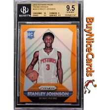 15-16 Stanley Johnson Panini Prizm Orange Prizms Refractor RC Rookie /65 BGS 9.5
