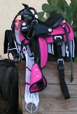 "Small Pony~10"" HOT PINK  Western 5 PIECE Saddle Package"