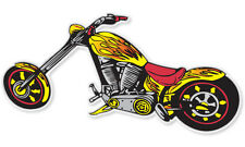 "Chopper Motorcycle bumper sticker 3"" x 6"""