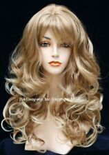 BOUNCY LONG WAVY Curly Strawberry blonde tip with pale mix WIG bangs JSCA 27-613