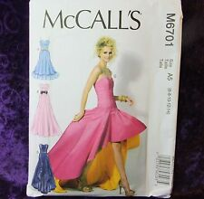 McCall's M6701 Sewing Pattern 6701 Misses'  Formal Dress Prom Gown 4 looks 6-14