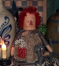 Primitive Raggedy Ann Annie Doll Cat Ornie Paper Pattern #594