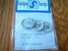 "Selley HO #481 Circus Wheels 17/32"" (4) (Light Cast)"